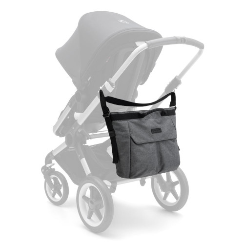 Bugaboo Changing Bag - Grey Melange - on stroller