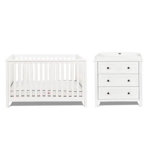 Silver Cross Nostalgia Cot Bed & Dresser - White
