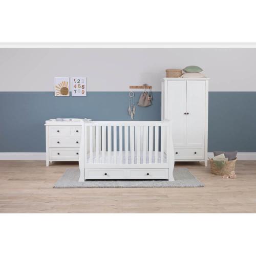 Silver Cross Nostalgia Sleigh Complete Nursery Set - White
