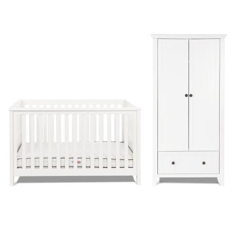 Silver Cross Nostalgia Cot Bed & Wardrobe - White