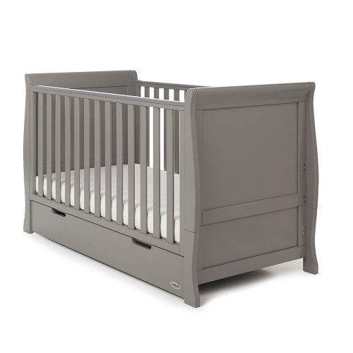 Obaby Stamford Sleigh 7 Piece Room Set - Taupe Grey (cot)