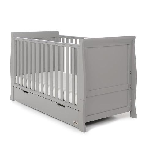 Obaby Stamford Sleigh 7 Piece Room Set - Warm Grey (cot)