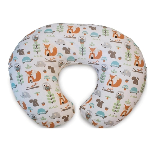 Boppy Pillow With Cotton Slipcover - Modern Woodland