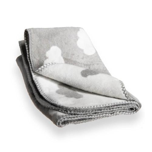 Clair de Lune Cloud Fleece Blanket - Grey