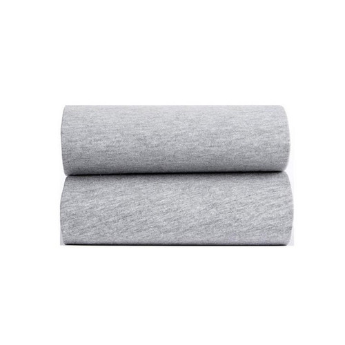 Clair De Lune 2 Pack Fitted Cot Bed Sheets - Grey Marl