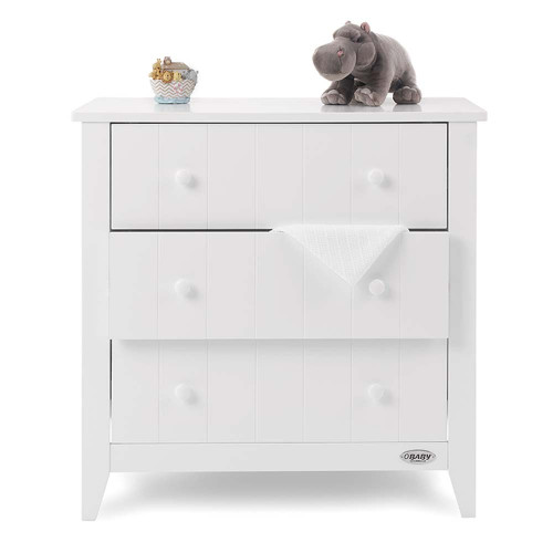 Obaby Belton Chest of Drawers - White (with belongings)
