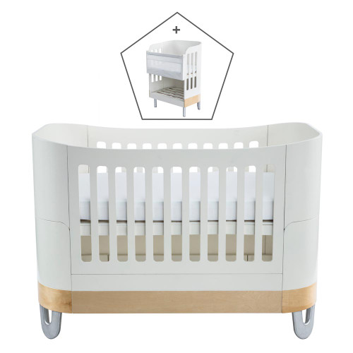 Gaia Serena Complete Sleep+/Co-Sleep - White/Natural