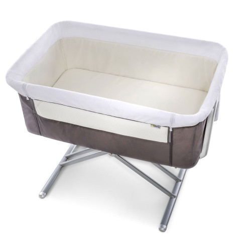 Hauck Face to Me Bedside Crib - Grey