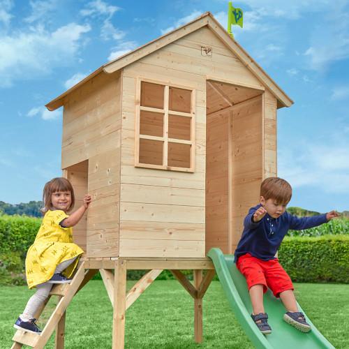 TP Toys Sunnyside Wooden Tower Playhouse & Slide