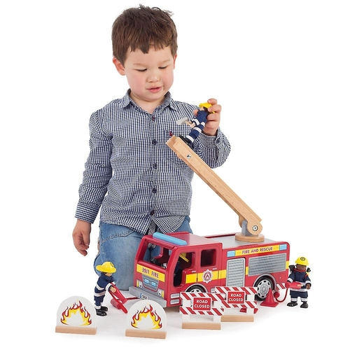Tidlo Fire Engine (firefighters figures not included)