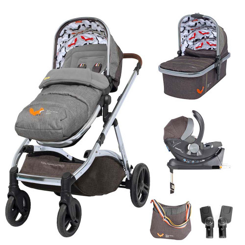 Cosatto Wow XL I-Size Travel System & Accessories Bundle - Mister Fox