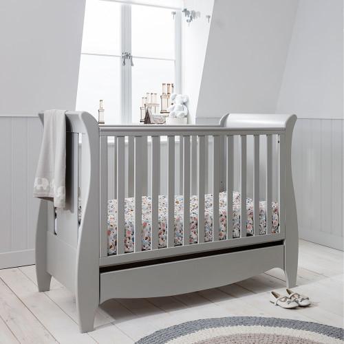 Tutti Bambini Roma Space Saver Sleigh Cot Bed - Dove Grey