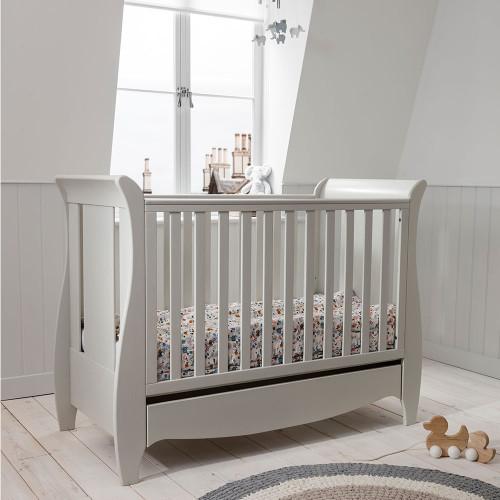 Tutti Bambini Roma Space Saver Sleigh Cot Bed - Linen