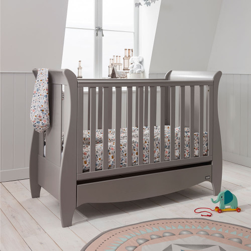 Tutti Bambini Roma Space Saver Sleigh Cot Bed - Truffle Grey