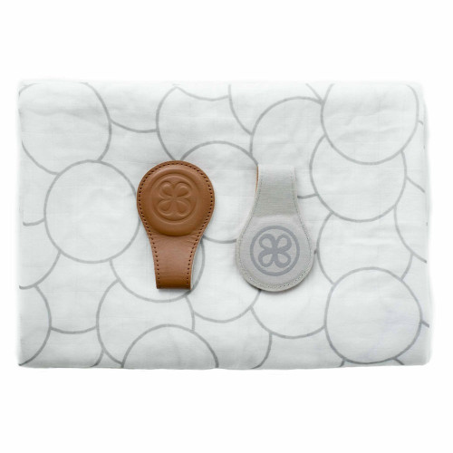 Hippychick Cloby Swaddle & Clips - Brown / Grey