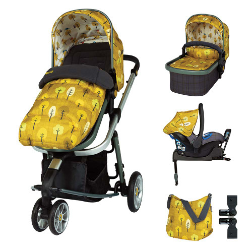 Cosatto Giggle 3 ISOFIX Travel System & Accessories Bundle - Spot The Birdie