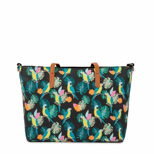 Pink Lining Nottinghill Tote - Black Parrot