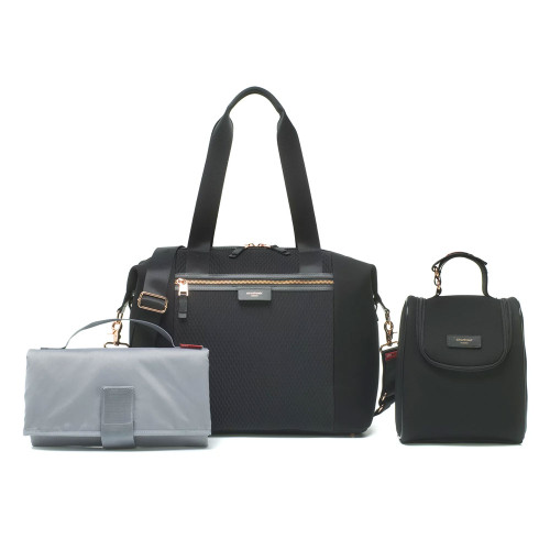 Storksak Stevie Luxe Changing Bag - Scuba Black