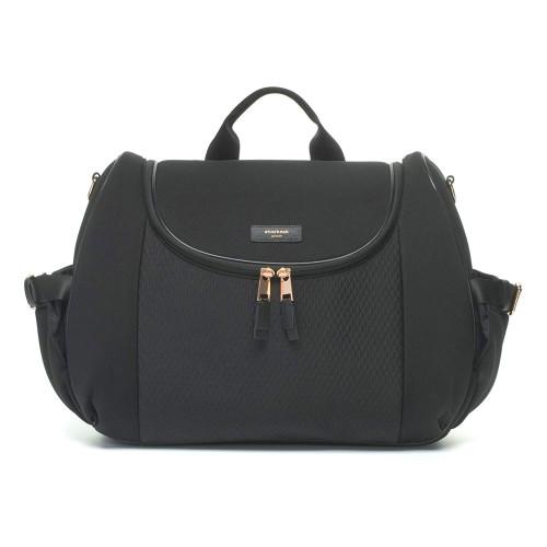 Storksak Poppy Luxe Convertible Backpack - Scuba Black