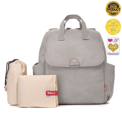 Babymel Robyn Convertible Backpack - Vegan Leather Pale Grey