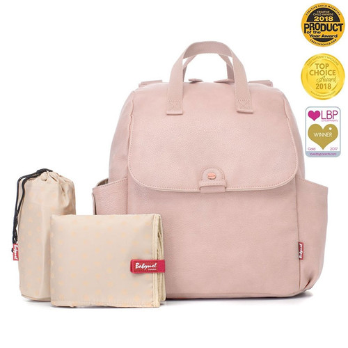 Babymel Robyn Convertible Backpack - Vegan Leather Blush