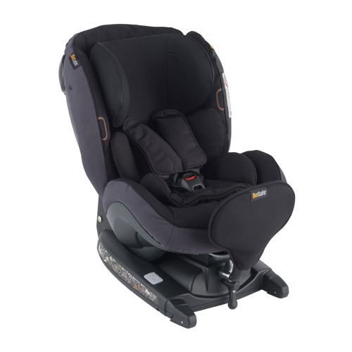 Besafe iZi Kid X3 i-Size Car Seat - Midnight Black Melange (left angle)