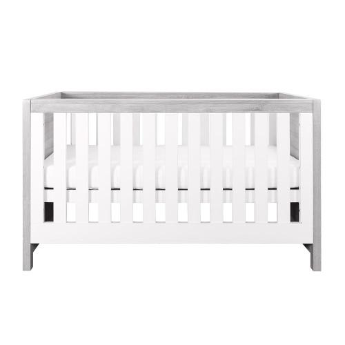 Tutti Bambini Modena Cot Bed - Grey Ash / White (front)