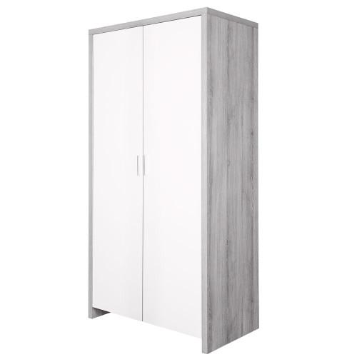 Tutti Bambini Modena Wardrobe - Grey Ash / White