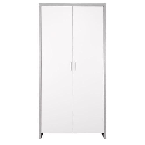 Tutti Bambini Modena Wardrobe - Grey Ash / White (front)