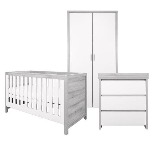 Tutti Bambini Modena 3 Piece Room Set - Grey Ash / White