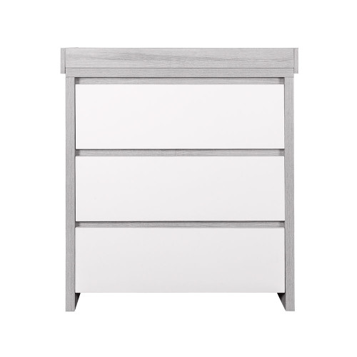 Tutti Bambini Modena Chest Changer - Grey Ash / White (front)