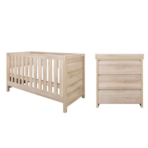 Tutti Bambini Modena 2 Piece Room Set - Oak