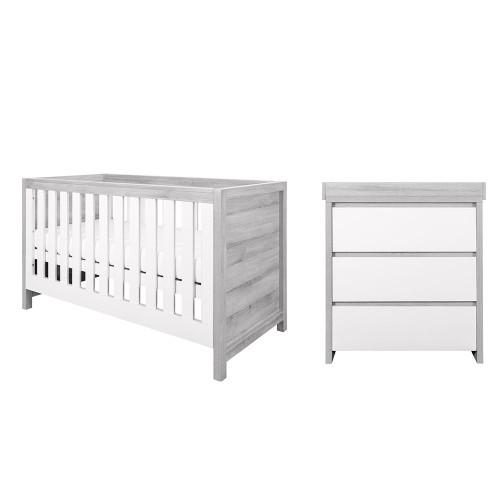 Tutti Bambini Modena 2 Piece Room Set - Grey Ash / White