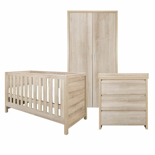 Tutti Bambini Modena 3 Piece Room Set - Oak