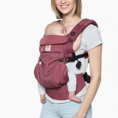Ergobaby Omni 360 Cool Mesh - Plum - front parent facing