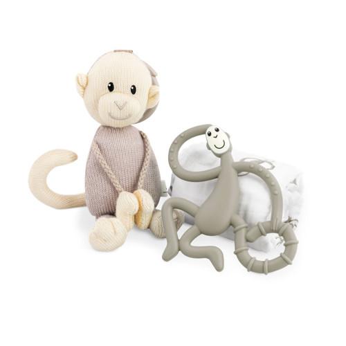Matchstick Monkey Teething Gift Set - Grey