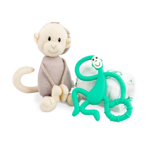 Matchstick Monkey Teething Gift Set - Green
