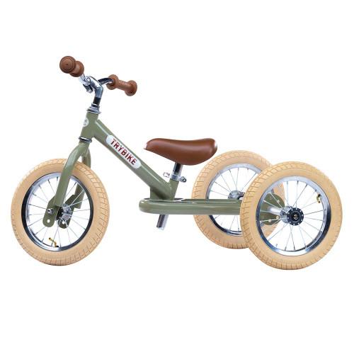 Trybike Steel 2-in-1 Balance Trike - Vintage Green
