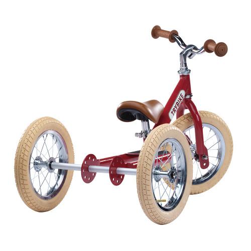 Trybike Steel 2-in-1 Balance Trike - Vintage Red