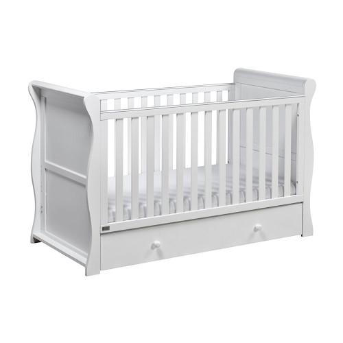 East Coast Nebraska 3 Piece Cot Bed Room Set - White - cotbed