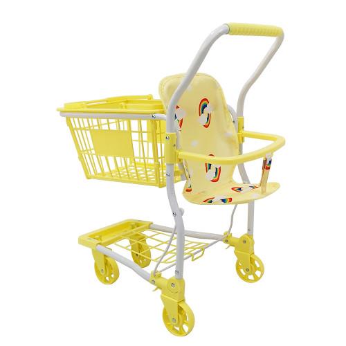 Roma Rupert Shopping Trolley - Primrose - rear right