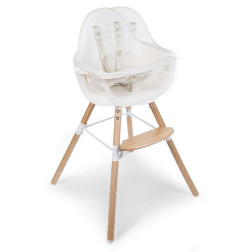 Childhome Evolu One.80 Highchair - Natural/White