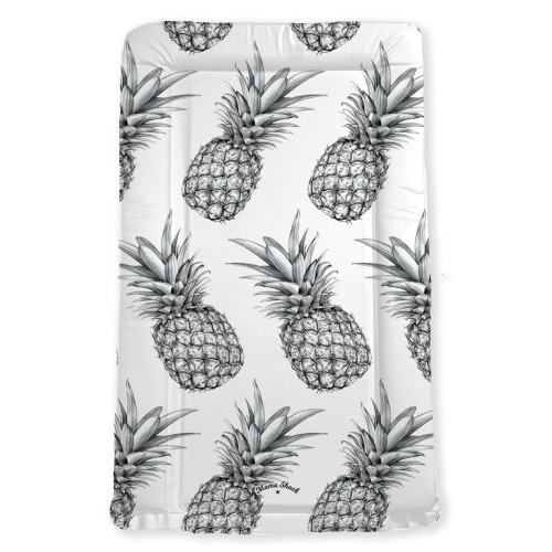 Mama Shack Flat Changing Mat - Pineapple White