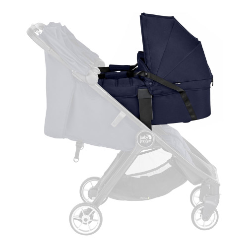 Baby Jogger City Tour 2 Double Carrycot - Seacrest-on-stroller