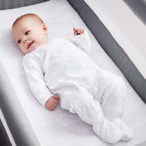 Shnuggle Air Cot Fitted Sheets - Grey Clouds