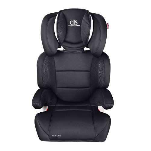 Cozy N Safe Apache Group 2/3 Car Seat - Black/Grey - front