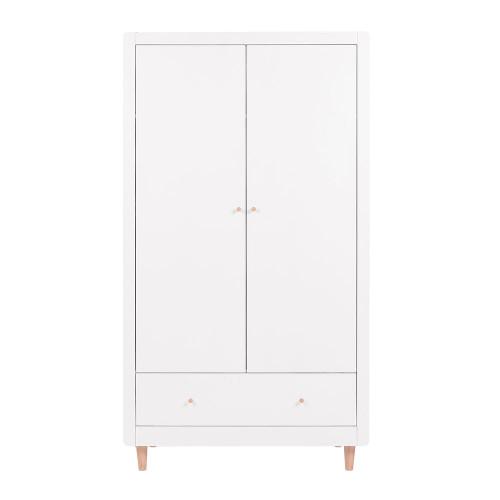 Tutti Bambini Siena Wardrobe - White / Beech - front
