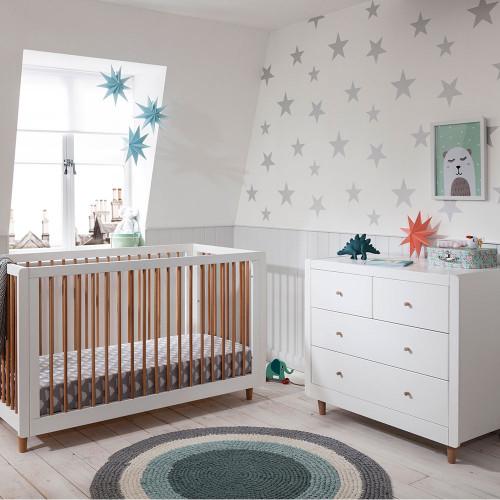 Tutti Bambini Siena 2 Piece Room Set  - White / Beech - lifestyle