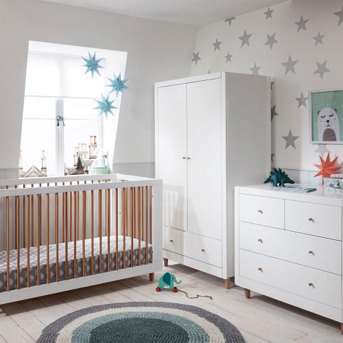 Tutti Bambini Siena 3 Piece Room Set  - White / Beech - lifestyle