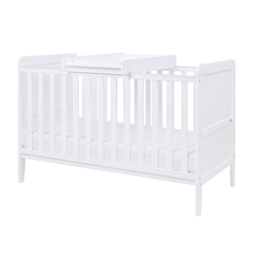 Tutti Bambini Rio Cot Bed with Cot Top Changer & Mattress - White - set